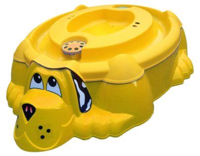 Marian Plast Pískoviště pejsek s krytem - Žluté se žlutým krytem