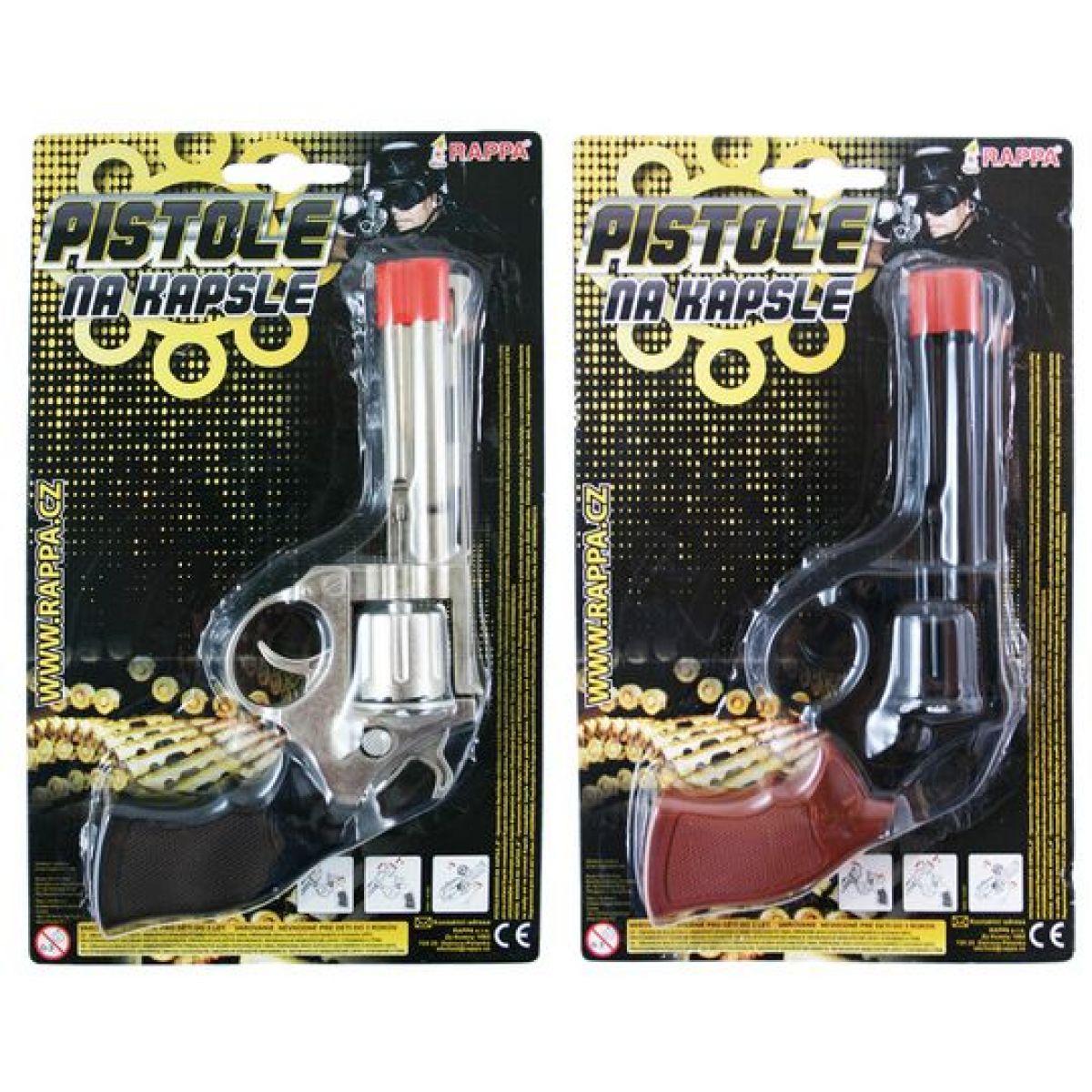 Pistole kovová na kapsle 8 Super 2 druhy