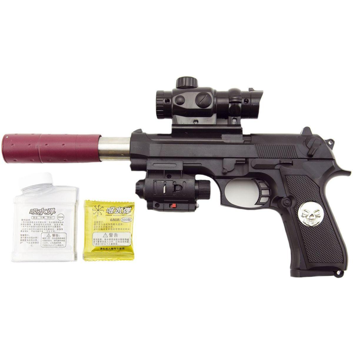 Pistole na vodní kuličky včetně nábojů 6 mm