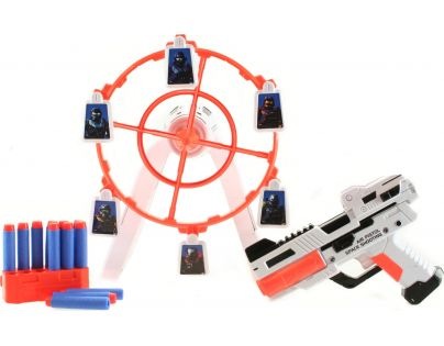 Pistole s pohyblivým  terčem