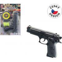 Made Pistolka na kartě s náhradními kuličkami 18 cm 2