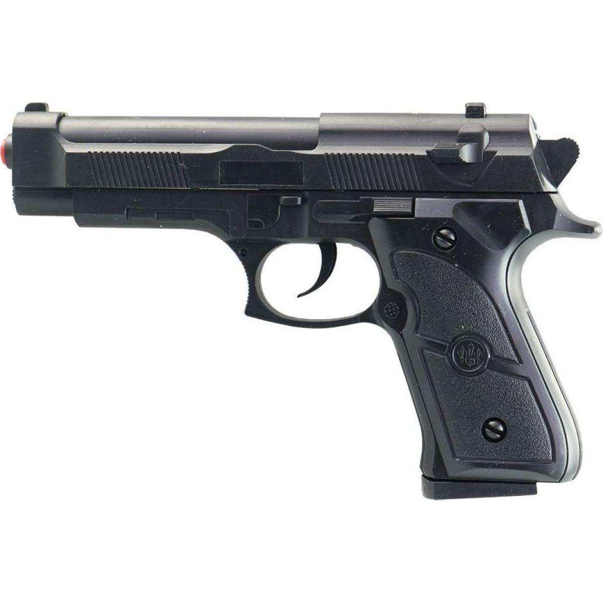Made Pistolka na kartě s náhradními kuličkami 18 cm