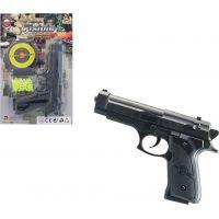 Made Pistolka na kartě s náhradními kuličkami 18 cm 3
