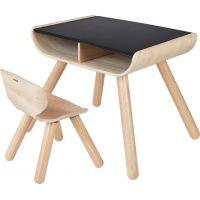 Plan Toys Dětský stolek se židlí černý