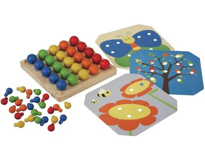 Plan Toys Kreativní kolíčková tabule