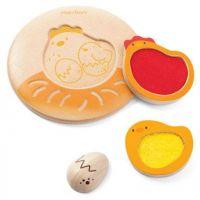 Plan Toys  Puzzle Životní cyklus kuřete 2