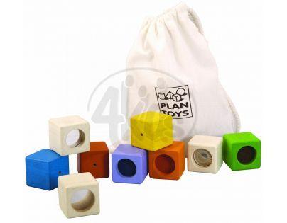 Plan Toys Smyslové kostky 9ks