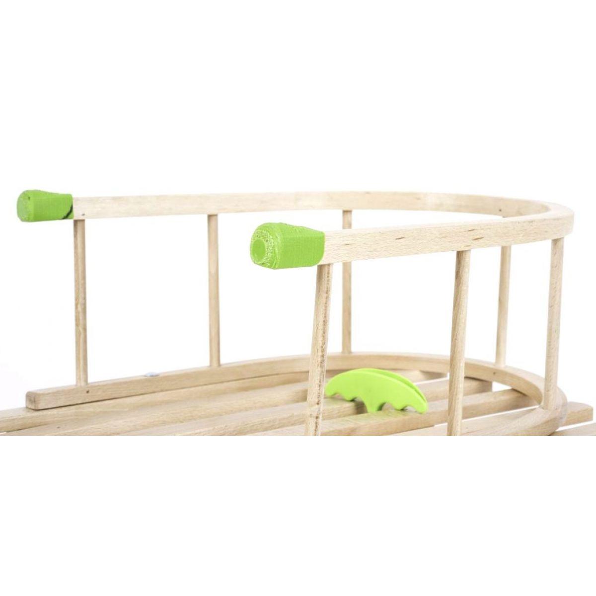 Plastkon Opěrka k saním dřevěná zelené prvky