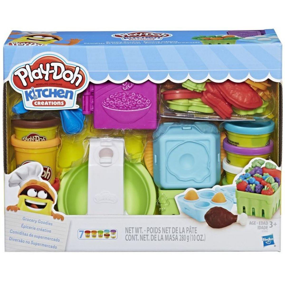 HASBRO PLAY-DOH Výroba potravin set s modelínou a tvořítky Play-Doh