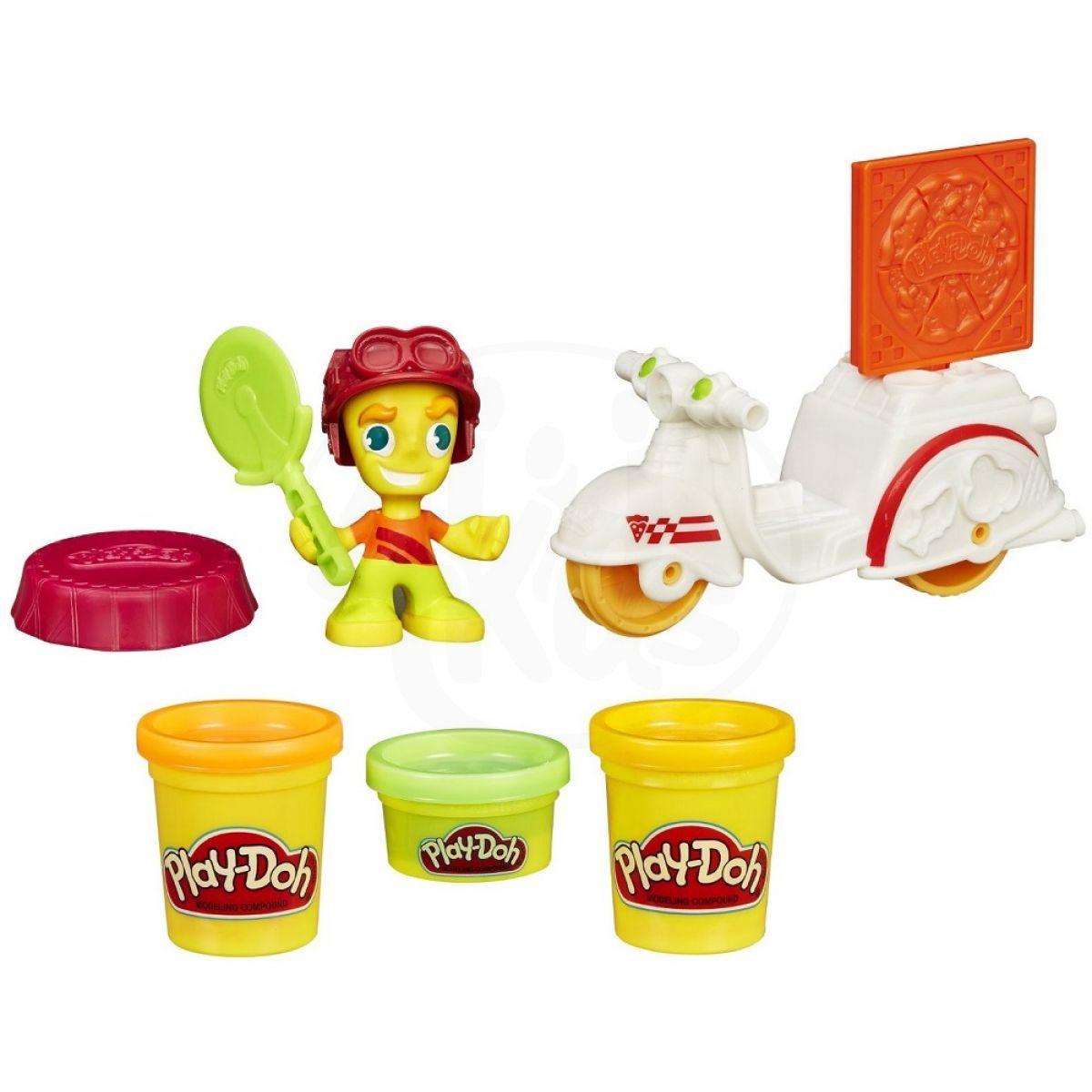 Play-Doh Town vozidla - Skútr s pizzařem