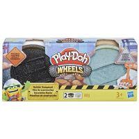 Play-Doh Wheels Stavební modelína černá a šedá