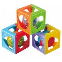Playgo Barevné skládací kostky