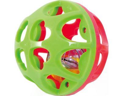 Playgo Chrastící míček - Červeno-zelená