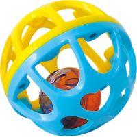 Playgo Chrastící míček - Modro-žlutá 2