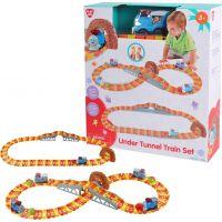PlayGo Vláčková souprava s tunelem a míčkem