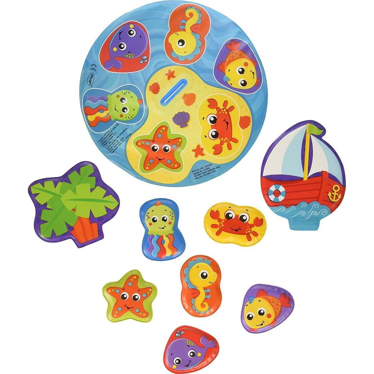 Playgro Plovoucí puzzle do vany 9 ks