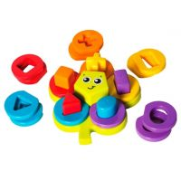 Playgro Skládací puzzle květina s tvary