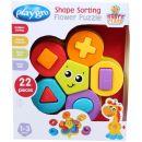 Playgro Skládací puzzle květina s tvary 4