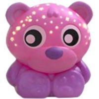 Playgro Usínací lampička Sedící medvídek s projektorem Růžový