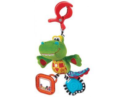 Playgro 182855 - Závěsný krokodýl s klipem
