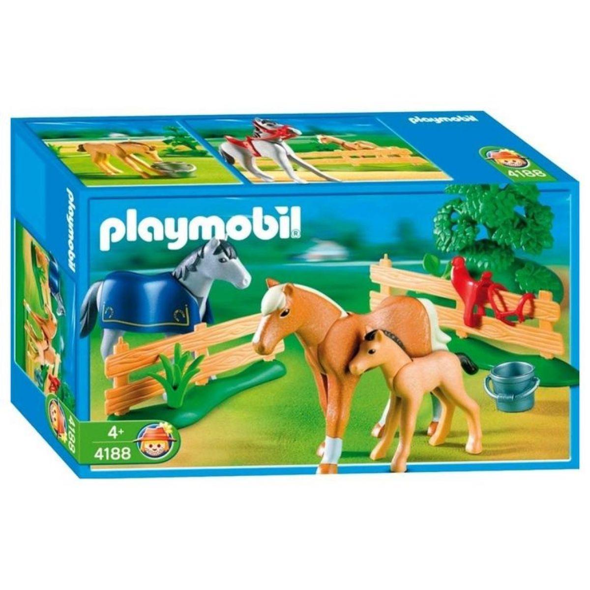 Playmobil 4188 Výběh pro koníky - Poškozený obal