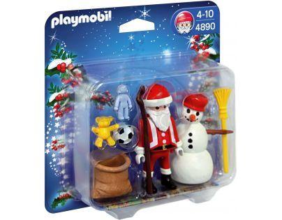 Playmobil 4890 - Santa Claus a sněhulák