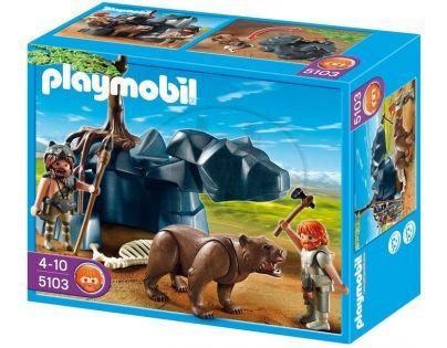 Playmobil  5103 - Medvěd s jeskynním mužem