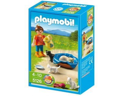 Playmobil 5126 Holčička s kočičí rodinou