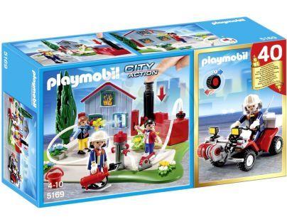 Playmobil 5169 - Výroční Compact Set Zásah hasičů a hasičská čtyřkolka