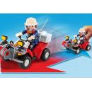 Playmobil 5169 - Výroční Compact Set Zásah hasičů a hasičská čtyřkolka 4