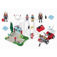 Playmobil 5169 - Výroční Compact Set Zásah hasičů a hasičská čtyřkolka 6