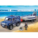 Playmobil 5187 Policejní auto s rychlostním člunem 2