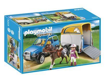 Playmobil 5223 - Terénní auto s přívěsem