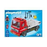 Playmobil 5283 - Flatbed Construction Truck 4