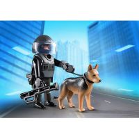 Playmobil 5369 Policejní těžkooděnec se psem 2