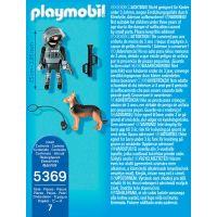 Playmobil 5369 Policejní těžkooděnec se psem 3