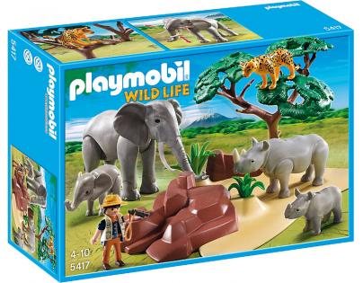 Playmobil 5417 Africká savana se zvířaty