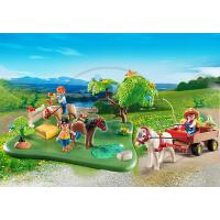 Playmobil 5457 - Výroční Compact Set Pastva poníků a vozík na seno 2