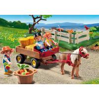 Playmobil 5457 - Výroční Compact Set Pastva poníků a vozík na seno 4
