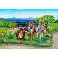 Playmobil 5457 - Výroční Compact Set Pastva poníků a vozík na seno 5