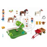 Playmobil 5457 - Výroční Compact Set Pastva poníků a vozík na seno 6