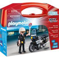 Playmobil 5648 Přenosný box Policista s motorkou