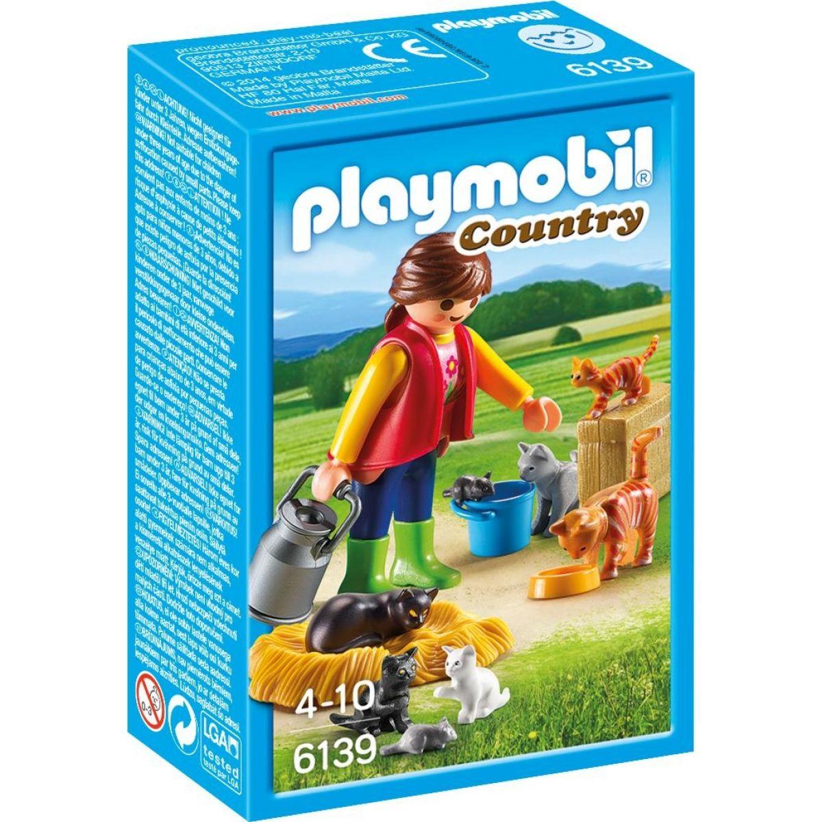Playmobil 6139 Dívka s kočičí rodinou