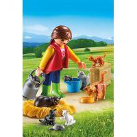 Playmobil 6139 Dívka s kočičí rodinou 2