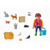 Playmobil 6139 Dívka s kočičí rodinou 4