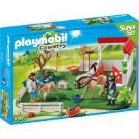 Playmobil 6147 Super Set Padok se stáním pro koně
