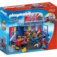 Playmobil 6157 Zavírací box - Motorkářská dílna