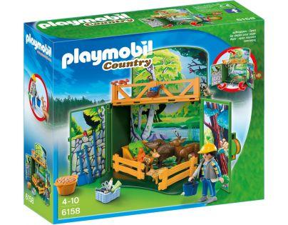 Playmobil 6158 Zavírací box s klíčem Krmení lesní zvěře