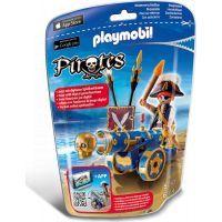 Playmobil 6164 Důstojník pirátů s interaktivním modrým kanónem