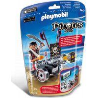 Playmobil 6165 Pirát s interaktivním černým kanónem